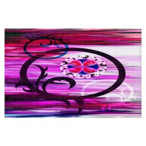 Decorative Floor Covering Mats | Angelina Vick - Floating 2 | abstract circles shapes pattern