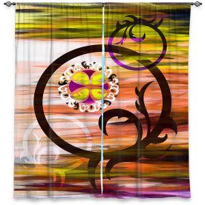 Decorative Window Treatments   Angelina Vick - Floating 3   abstract circles shapes pattern