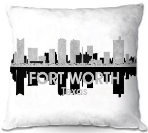 Throw Pillows Decorative Artistic | Angelina Vick - City IV Fort Worth Texas