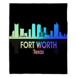 Decorative Fleece Throw Blankets | Angelina Vick - City V Fort Worth Texas