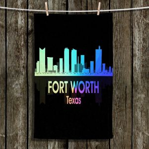 Unique Hanging Tea Towels | Angelina Vick - City V Fort Worth Texas | Skyline Downtown Fort Worth