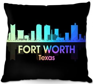 Decorative Outdoor Patio Pillow Cushion | Angelina Vick - City V Fort Worth Texas