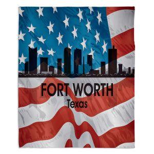 Decorative Fleece Throw Blankets | Angelina Vick - City VI Fort Worth Texas