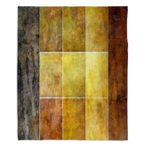 Decorative Fleece Throw Blankets | Angelina Vick - Gold | Abstract shapes rectangle