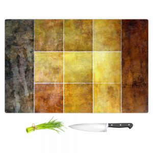 Artistic Kitchen Bar Cutting Boards | Angelina Vick - Gold | Abstract shapes rectangle