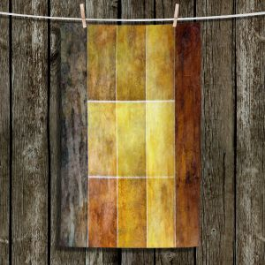 Unique Bathroom Towels | Angelina Vick - Gold | Abstract shapes rectangle