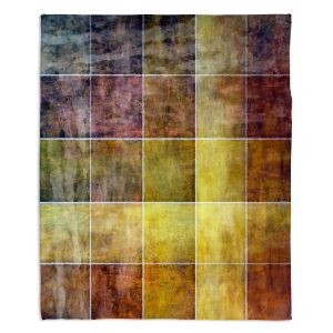 Decorative Fleece Throw Blankets | Angelina Vick - Gold Shades | Abstract shapes rectangle