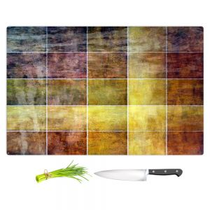 Artistic Kitchen Bar Cutting Boards   Angelina Vick - Gold Shades   Abstract shapes rectangle