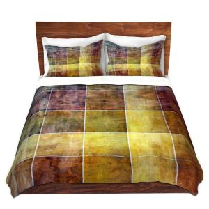 Artistic Duvet Covers and Shams Bedding | Angelina Vick - Gold Shades | Abstract shapes rectangle