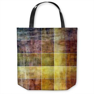 Unique Shoulder Bag Tote Bags | Angelina Vick - Gold Shades | Abstract shapes rectangle
