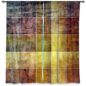 Decorative Window Treatments | Angelina Vick - Gold Shades | Abstract shapes rectangle