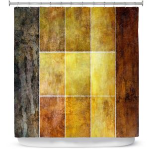 Premium Shower Curtains | Angelina Vick - Gold | Abstract shapes rectangle