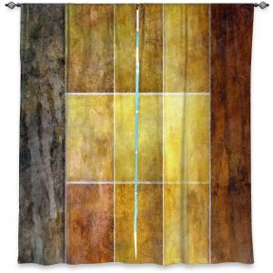 Decorative Window Treatments   Angelina Vick - Gold   Abstract shapes rectangle