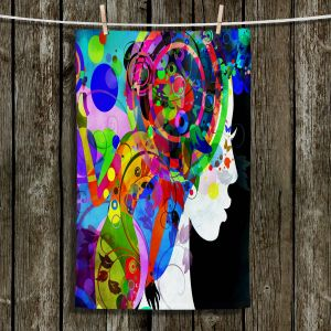 Unique Hanging Tea Towels | Angelina Vick - Grace is Complicated | Woman Feminine Bright Colors Stylized
