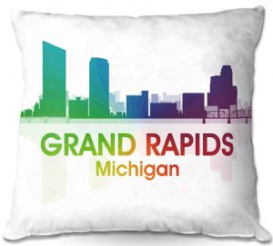 Decorative Outdoor Patio Pillow Cushion | Angelina Vick - City I Grand Rapids Michigan