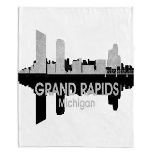 Decorative Fleece Throw Blankets | Angelina Vick - City IV Grand Rapids Michigan