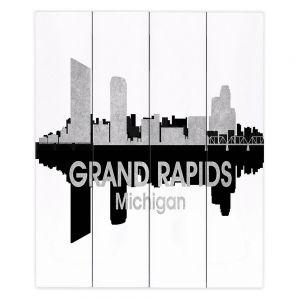 Decorative Wood Plank Wall Art |Angelina Vick - City IV Grand Rapids Michigan