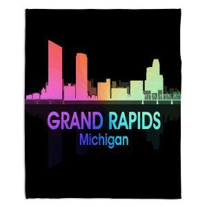 Decorative Fleece Throw Blankets | Angelina Vick - City V Grand Rapids Michigan