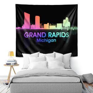 Artistic Wall Tapestry | Angelina Vick - City V Grand Rapids Michigan