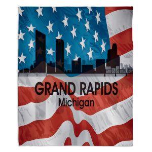 Decorative Fleece Throw Blankets | Angelina Vick - City VI Grand Rapids Michigan
