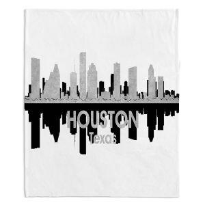 Decorative Fleece Throw Blankets | Angelina Vick - City IV Houston Texas