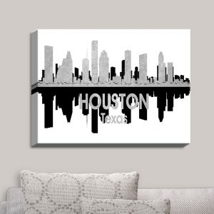 Decorative Canvas Wall Art | Angelina Vick - City IV Houston Texas | City Skyline Mirror Image