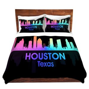 Artistic Duvet Covers and Shams Bedding | Angelina Vick - City V Houston Texas