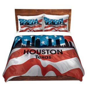 Artistic Duvet Covers and Shams Bedding   Angelina Vick - City VI Houston Texas