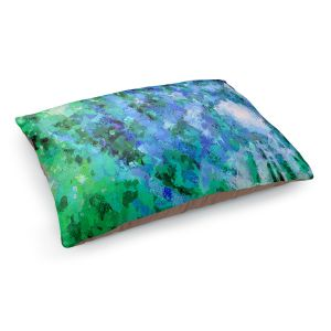 Decorative Dog Pet Beds   Angelina Vick - I Know You Green   abstract pattern