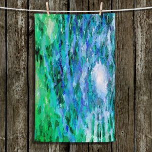 Unique Hanging Tea Towels   Angelina Vick - I Know You Green   abstract pattern