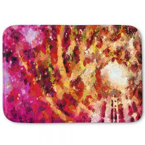 Unique Bath Mat Small from DiaNoche Designs by Angelina Vick - I Know You Red