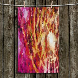 Unique Bathroom Towels | Angelina Vick - I Know You Red | abstract pattern