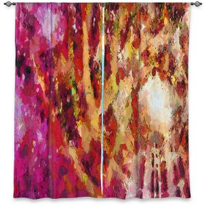 Decorative Window Treatments | Angelina Vick - I Know You Red | abstract pattern