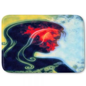 Decorative Bathroom Mats | Angelina Vick - I Walked Away 2 | silhouette profile face