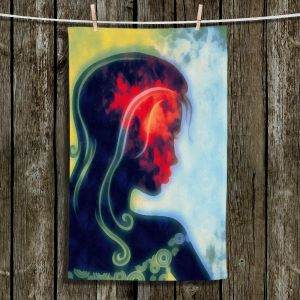 Unique Hanging Tea Towels | Angelina Vick - I Walked Away 2 | silhouette profile face