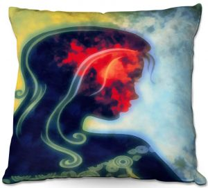 Throw Pillows Decorative Artistic   Angelina Vick - I Walked Away 2   silhouette profile face