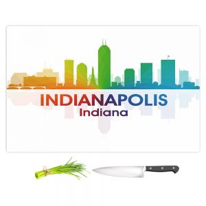 Artistic Kitchen Bar Cutting Boards | Angelina Vick - City I Indianapolis Indiana