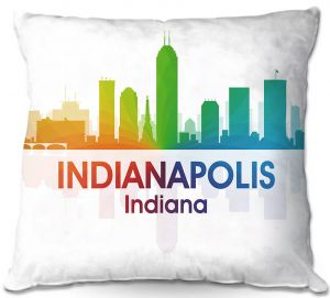 Throw Pillows Decorative Artistic | Angelina Vick - City I Indianapolis Indiana
