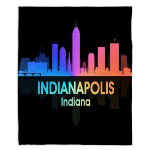 Decorative Fleece Throw Blankets | Angelina Vick - City V Indianapolis Indiana