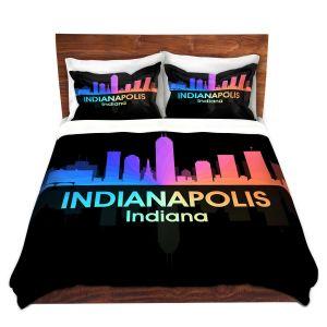 Artistic Duvet Covers and Shams Bedding | Angelina Vick - City V Indianapolis Indiana