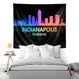 Artistic Wall Tapestry | Angelina Vick - City V Indianapolis Indiana