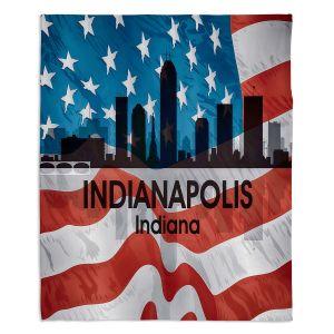 Decorative Fleece Throw Blankets | Angelina Vick - City VI Indianapolis Indiana