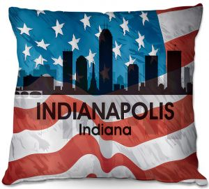 Decorative Outdoor Patio Pillow Cushion | Angelina Vick - City VI Indianapolis Indiana