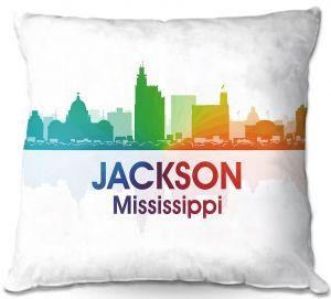 Decorative Outdoor Patio Pillow Cushion | Angelina Vick - City I Jackson Mississippi