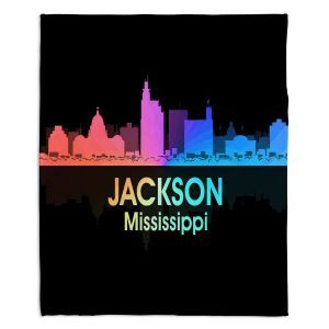 Decorative Fleece Throw Blankets | Angelina Vick - City V Jackson Mississippi