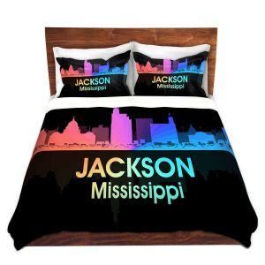 Artistic Duvet Covers and Shams Bedding | Angelina Vick - City V Jackson Mississippi