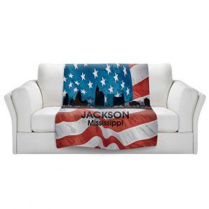 Artistic Sherpa Pile Blankets | Angelina Vick - City VI Jackson Mississippi