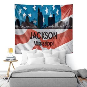Artistic Wall Tapestry | Angelina Vick - City VI Jackson Mississippi