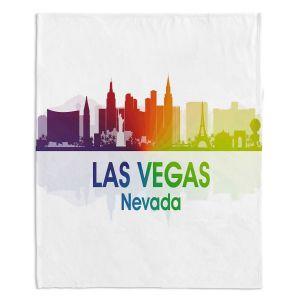 Decorative Fleece Throw Blankets | Angelina Vick - City I Las Vegas Nevada