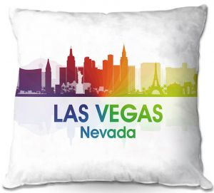Decorative Outdoor Patio Pillow Cushion | Angelina Vick - City I Las Vegas Nevada